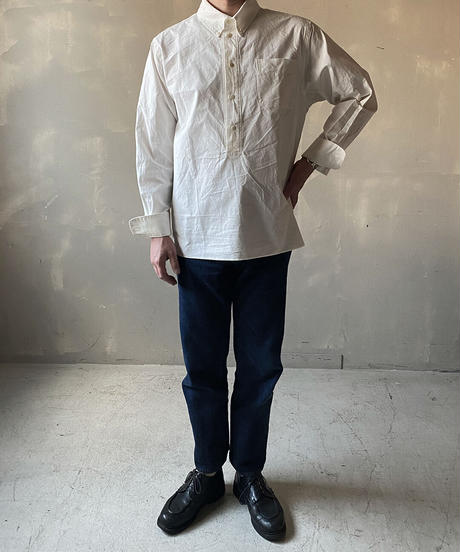 """【THE UNION】THE FABRIC """"B.D. PULLOVER SHIRTS/WHITE/200000-002"""