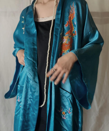 【USED】 Pure Silk Chinese Motif Gpwn/210714-041