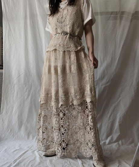 【RE;CIRCLE】 RE Crochet N/S One-piece②/210611-024