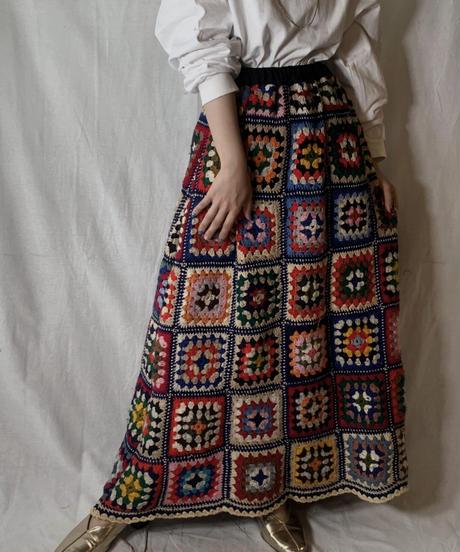 【USED】 Granny Knit Long Skirt①/210404-009