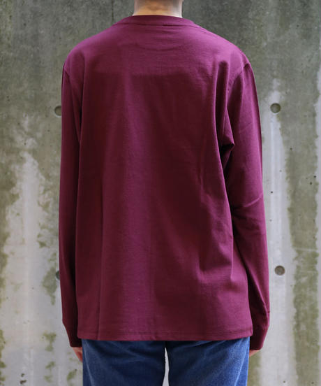 [Goodwear] Long sleeve T-shirt (Wine)