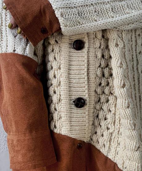 【RE;CIRCLE】 Docking Aran Knit Cardigan ② /210106-018