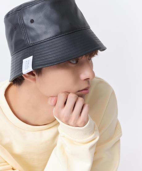 Noblecalmer LOGO LeatherBucket hat
