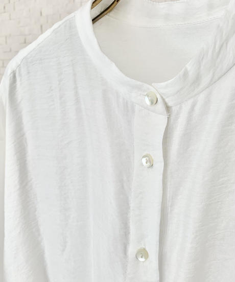 ロングスリットシアーシャツ