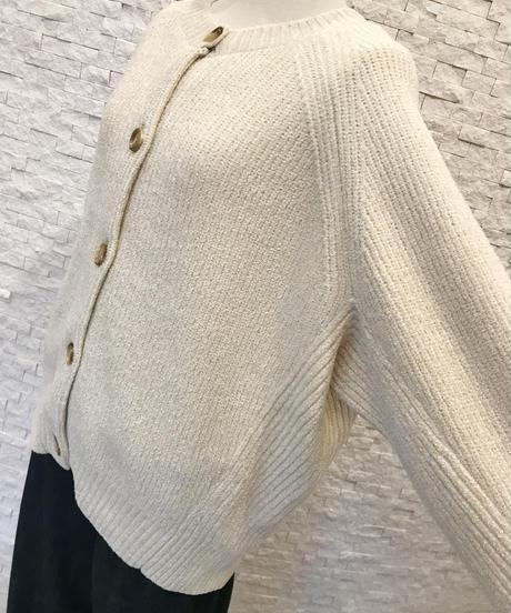 綿モールカーディガン
