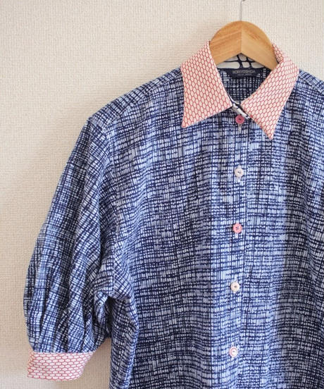 Baloon sleeves summer cotton shirt ② (no.305)