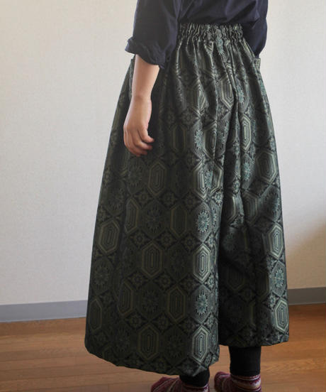 Gorgeous dark green Kimono Wide pants (no.250)
