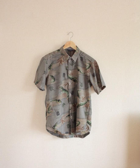 Men's prawn cotton kimono shirt (no.321)