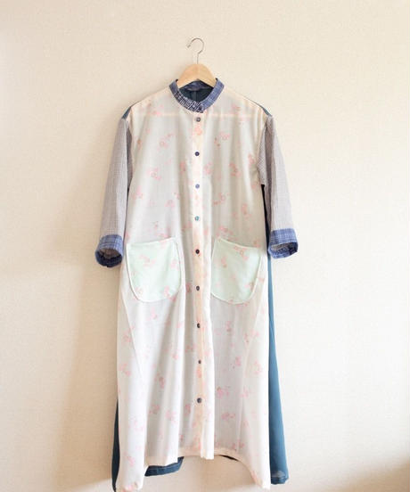Flower Cotton & Kimono Long Dress / Jacket (no.330)