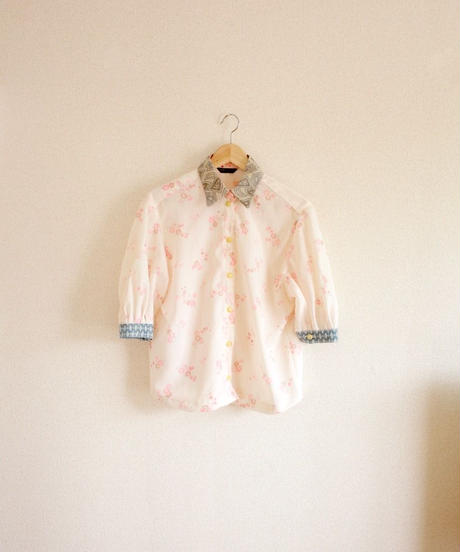 Retro flower cotton Kimono Shirt (no.320)