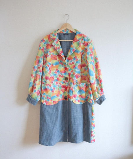 Rainbow colour Kimono Long Jacket (no.336)