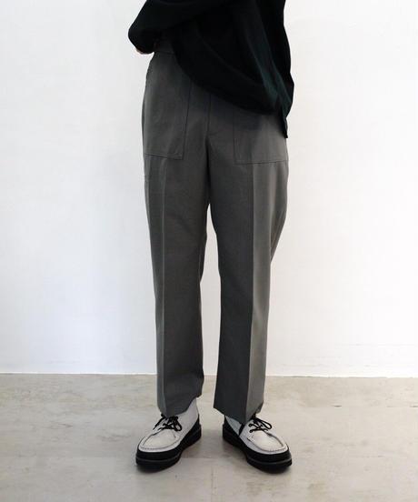 WOOL GABARDINE BAKER PANTS【MENS】