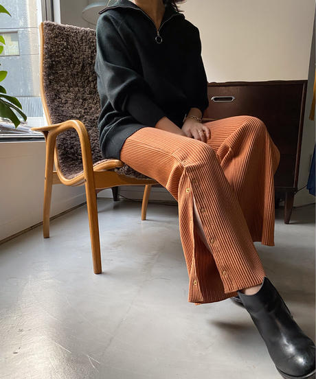 RIPPLE PLEATS JERSEY BOOTSCUT【WOMENS】
