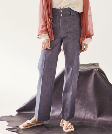HIGH WAIST DENIM TROUSER【WOMENS】