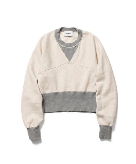 BY COLLOR SHORT SWEAT【WOMENS】
