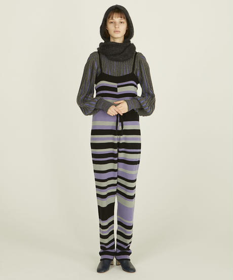 KNIT BORDER ROMPERS【WONENS】
