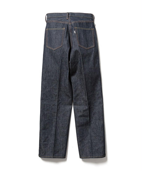 812 HIGH WAIST STRAGHT DENIM SLACKS(INDIGO RIGID)【WOMENS】