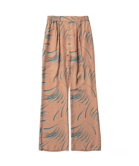 BRUSH PATTERN EASY BOOTSCUT PANTS【WOMENS】