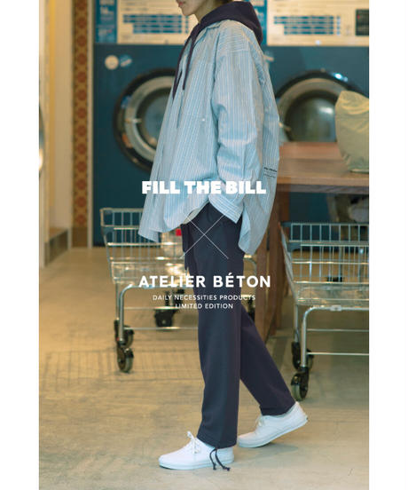 《FILL THE BILL × ATELIER BÉTON》STRIPE OVER SHIRT【UNISEX】