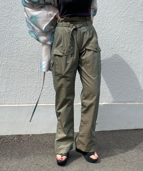 HIGH WAIST CARGO TROUSER【WOMENS】