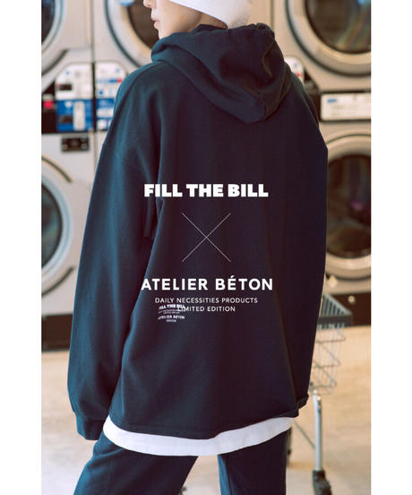 《FILL THE BILL × ATELIER BÉTON》COMFORT HOODIE SWEAT【UNISEX】