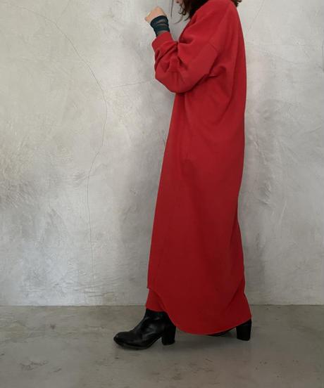LONG SWEAT ONEPIECE【WONENS】RED