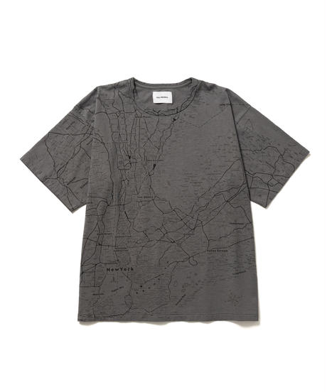 NYC SOUVENIR MAP TEE【UNISEX】