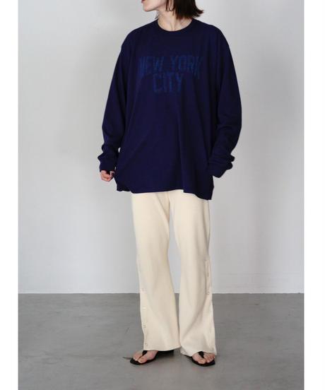 RIB BOOTSCUT  PANTS【WOMENS】