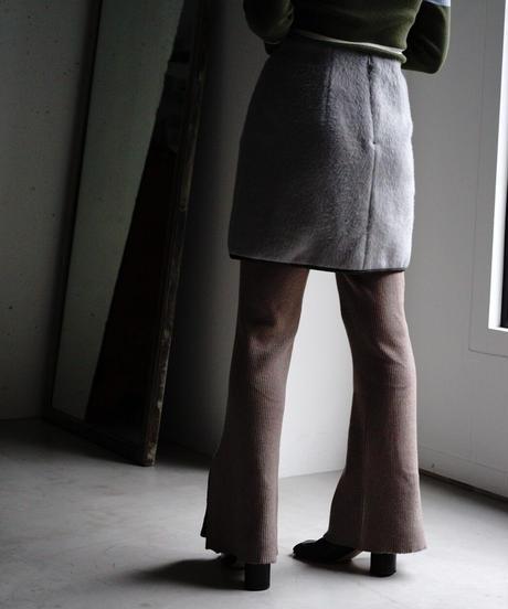 MOHAIR SHAGGY PIPNG MINI SKIRT【WOMENS】
