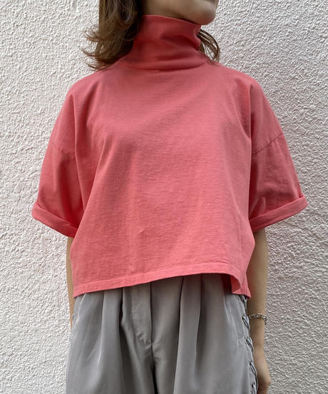 TURTLE NECK WIDE TEE【WOMENS】
