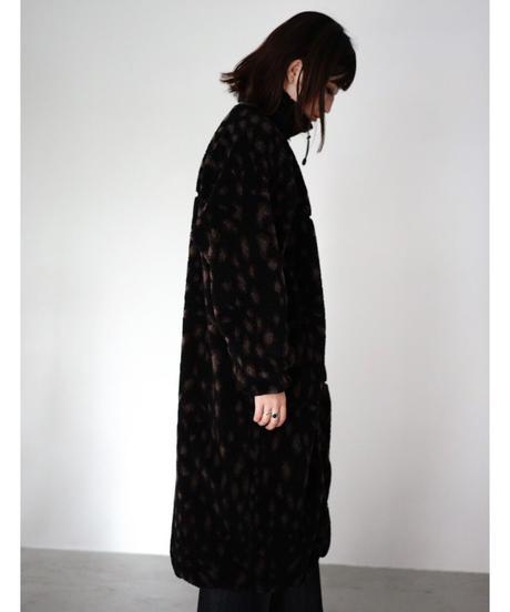 LEOPARD FLEECE LONG COAT【WOMENS】