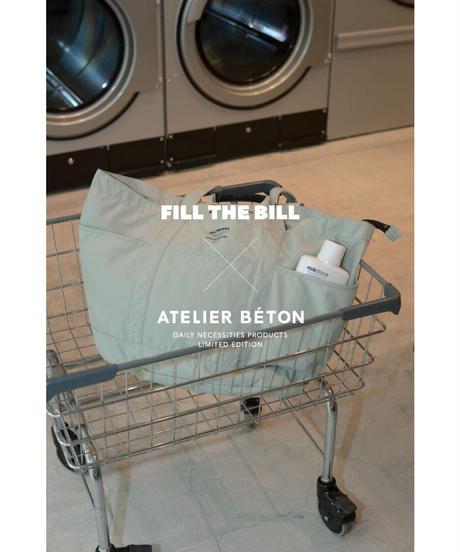 《FILL THE BILL×ATÉLIER BETON》RAUNDRY BIG TOTE【UNISEX】