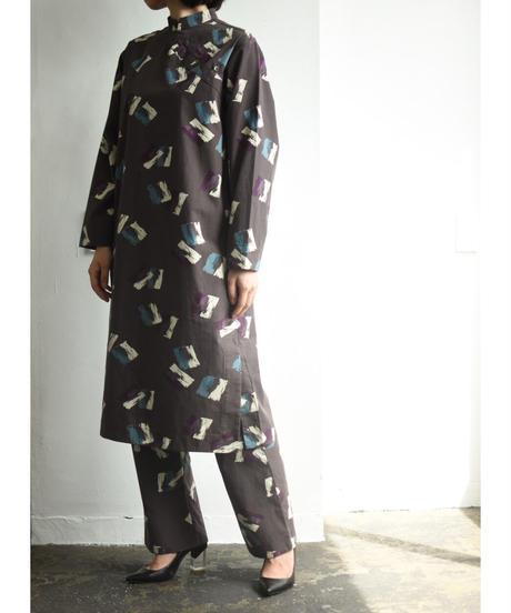 BRUSH PATTERN CHINA DRESS【WOMENS】