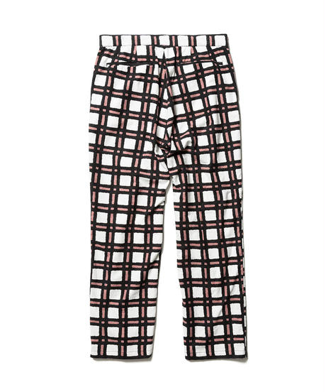 FLANNEL CHECK PRINT TROUSER【MENS】