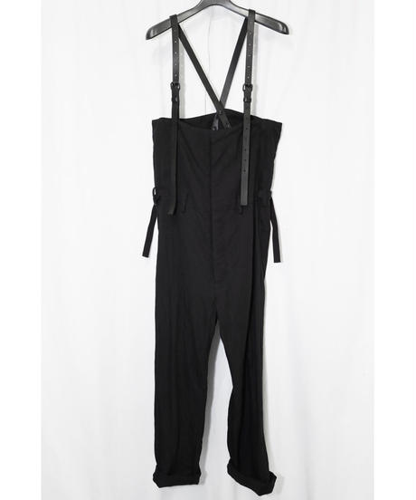 NU-1399  High Waist Pants w/Leather Belt Suspenders