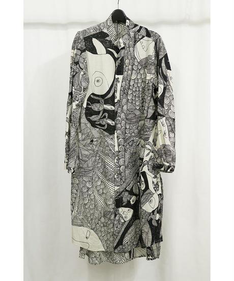 "DU-134-AP ""DISTORTION3"" Limited Print Long Shirt  3"