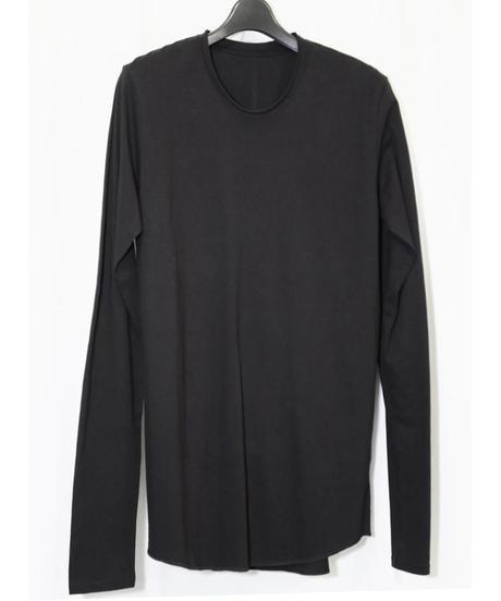 NU-1371  Back  Print Long Sleeve T-shirt BLACK