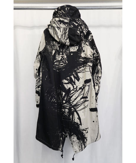 "DU-133 ""DISTORTION3"" Print Militaly Parka"