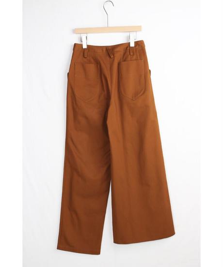 pt-22C   canyon brown asymmetry pants