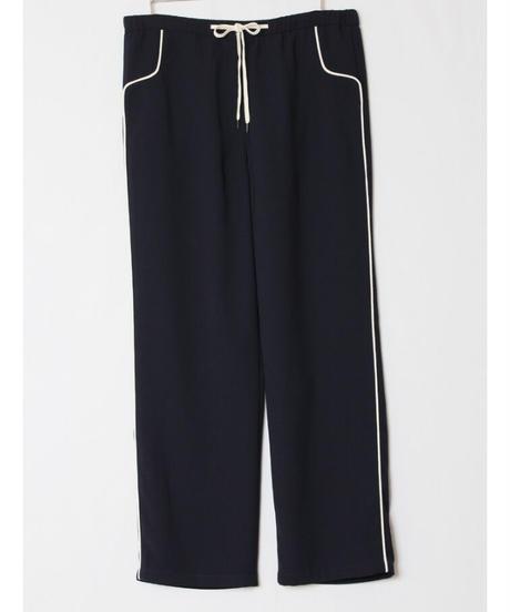navy line pants