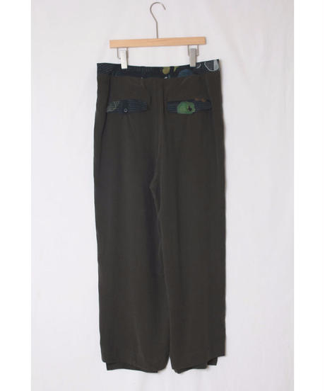 pt-20G   dark green widepants
