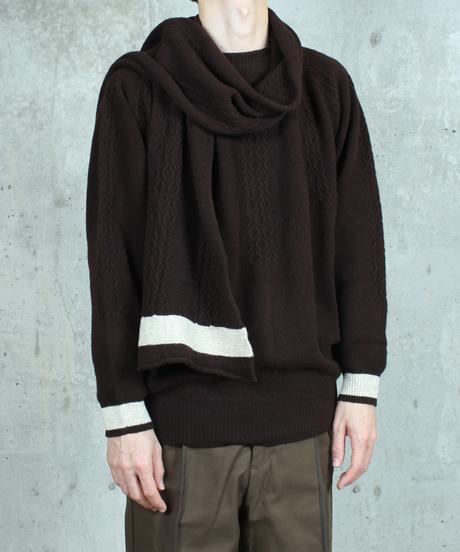 dark brown knit