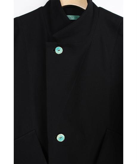 jk-47B   black lapel jacket