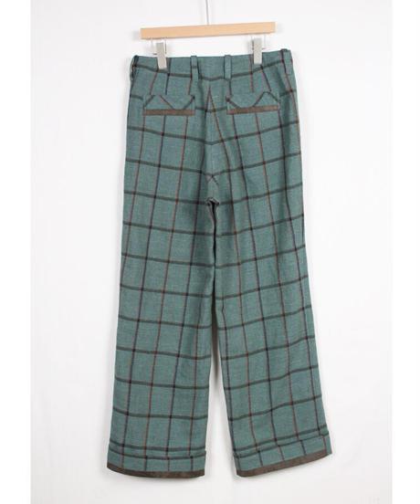 pt-29C  check wide pants