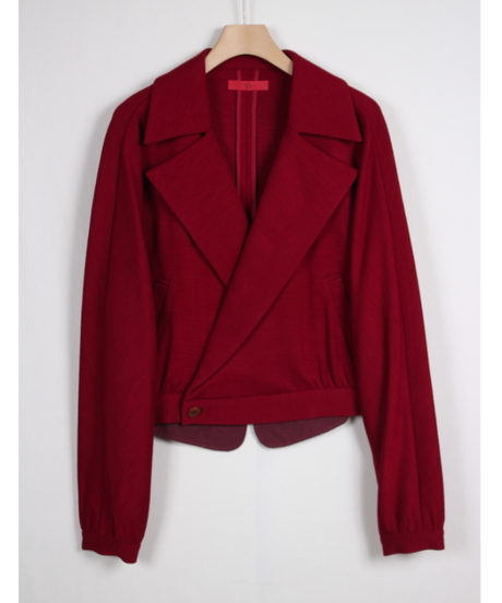 red dolman jacket