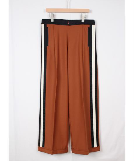 brown orange wide pants