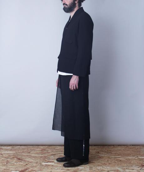 black scarf wide pants