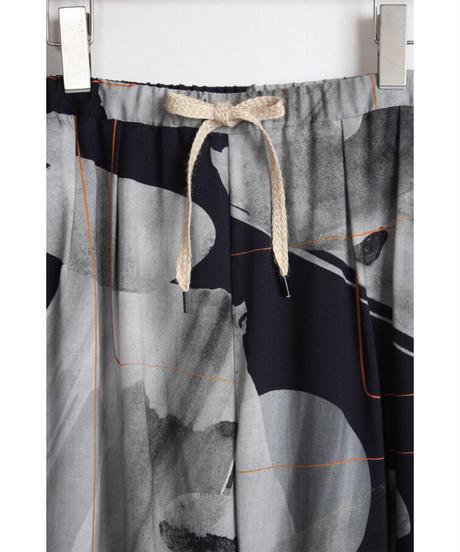 pt-25G   gray nijimi cupra pants
