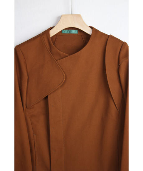 jk-40C   canyon brown asymmetry jacket