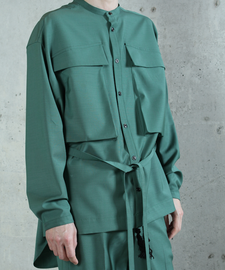 st-44G   green shirts jacket
